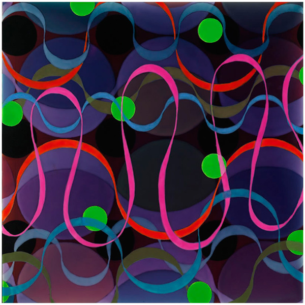 Ribbon Painting, 2008, acrylic on panel, 12 x 12 in.