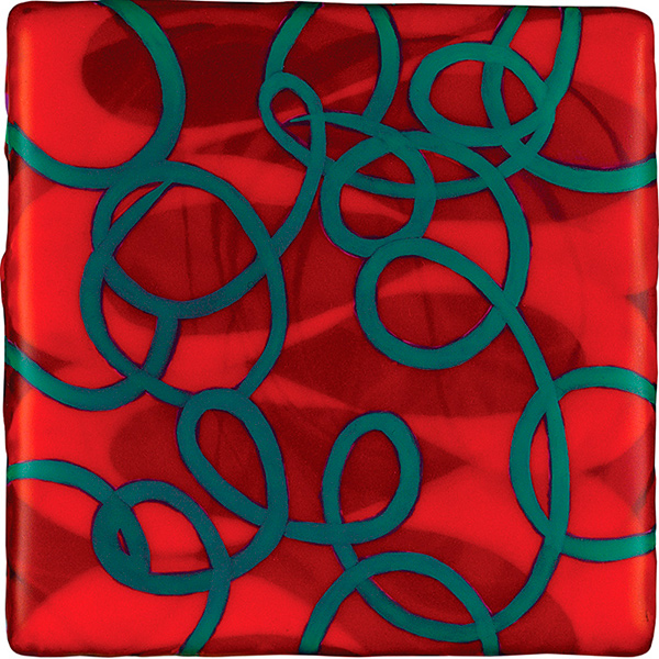 Green Links, 2010, acrylic on panel, 5 x 5 in.