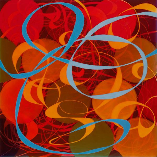 Loop-de-Loop No. 2, 2009, acrylic on panel, 12 x 12 in.
