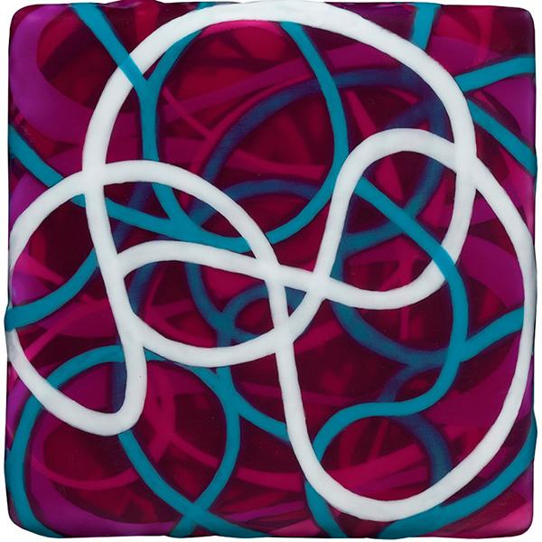 Make Me, 2011, acrylic on wood panel, 5 x 5 x 1.5 in.