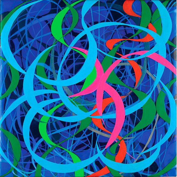 Rip Tide, 2011, acrylic on wood panel, 12 x 12 in.