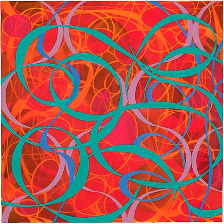 Lush Life, 2011, acrylic on wood panel, 12 x 12 in.