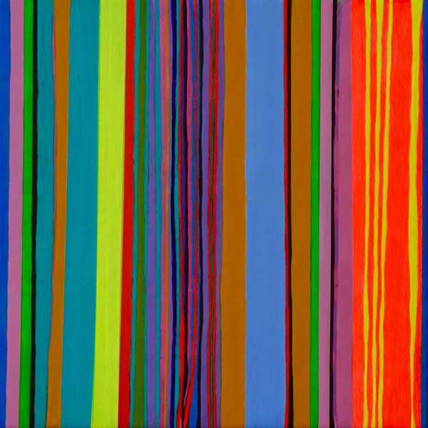 Stripes 2, 2015, acrylic on canvas, 12 x 12 in.