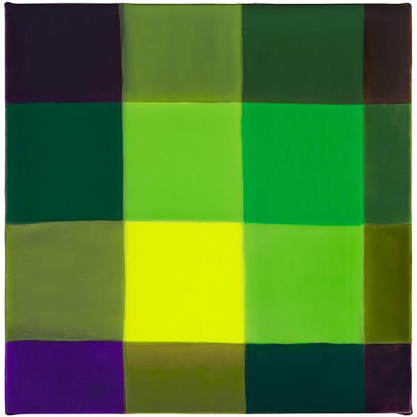 Visitation 3, 2017, acrylic on linen mounted on panel, 12 x 12 in.